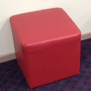Red Pouffes