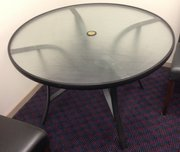 Round Glass Table - Outdoor